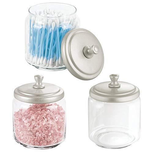mDesign Glass Bathroom Vanity