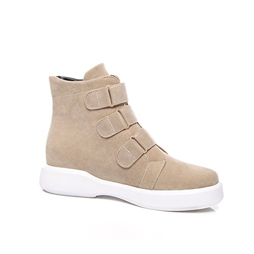 Ankle Boots Office Boots Boots Nubuck Black Calf Boots for Fleece leather Booties Mid ZHZNVX Flat Fashion Women's Bootie HSXZ Fall Round Shoes Winter Toe TqxwBzaPw