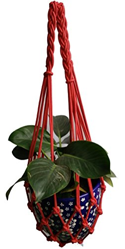 4 Legs special style Macrame Nylon Rope Plant Holders fits 10-14 inch pots Macrame Plant Hanger - Pot 7 Hanger