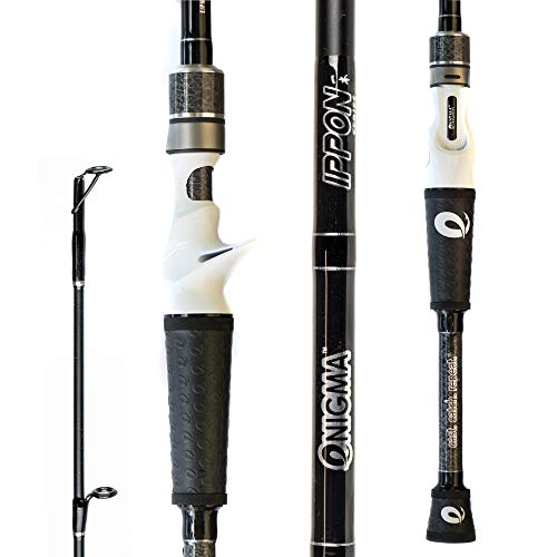 "Enigma Fishing IPPON Pro Tournament Series Bass Fishing Rods, Japanese Torray Graphite High Modulus 1 Pc Blanks, Alps Guides & Reel Seats, Enigma ""E"" Grips, 10 Lengths & Actions - Casting Rod"