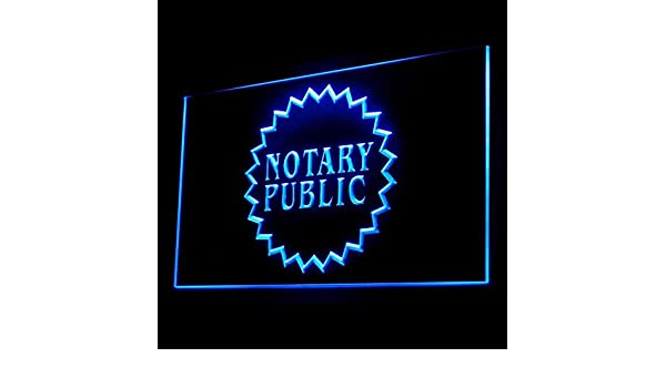 150002 Notary Public Business Service On Declarations Display LED Light Sign