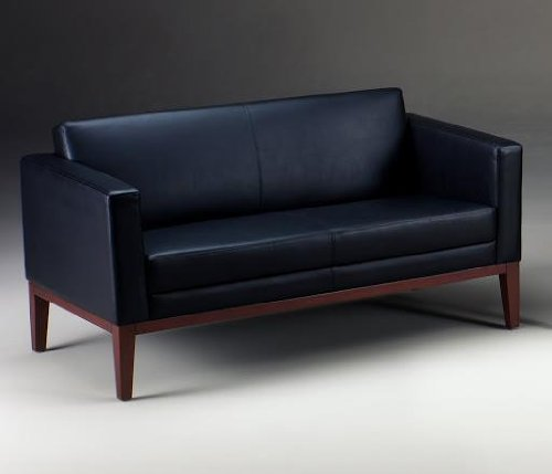 Mayline VCL2 Prestige Settee Wood Component Finish: Sierra Cherry, Leather/Vinyl: - Chair Sierra Guest Cherry