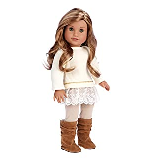 DreamWorld Collections - Romantic Melody - 3 Piece Outfit - Tunic, Leggings and Boots - Clothes Fits 18 Inch American Girl Doll(Doll Not Included)