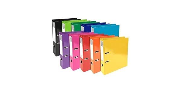 Iderama archivos de palanca (cartón, lomo de 70 mm, tamaño A4) 53629e unidades 10 140435: Amazon.es: Oficina y papelería