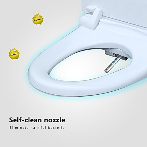 Sensational Koyida H04 Elongated Smart Automatic Bidet Toilet Seat Cover With Heated Seated Warm Air Dryer Nozzle Cleaning And Arm Side Control Cotton White Andrewgaddart Wooden Chair Designs For Living Room Andrewgaddartcom