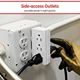 GE 6 Outlet Side Access Outlet Adapter Wall