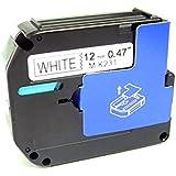 Sienoc Compatible for Brother P-touch Labels M-K231 MK231 M-231 WHITE Tape Black On White PT55BM, PT55S, PT65, PT65SB, PT70, PT80, PT85, PT90, PT100, PT110 (1 Pack Black on White)