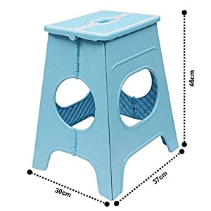Livzing Foldable Step Stool for Adults Kids - 18 Inch– Portable Bathroom Kitchen Garden Picnic Stepping Chair - Color May Vary