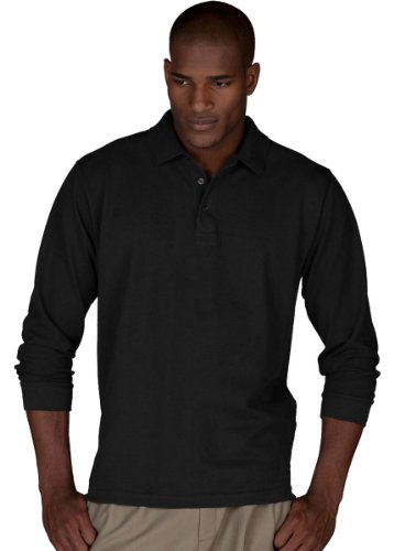 Edwards Garment Men's Big And Tall Wrinkle Resistant Polo - Friday Black Polo Park