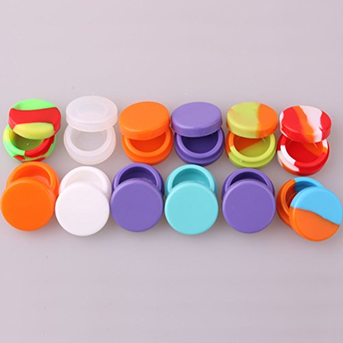 3ml Storage Silicon Container for Wax Silicon Jar Vial for Oil Wax Container Jar for Cream (Pack of 12pcs)