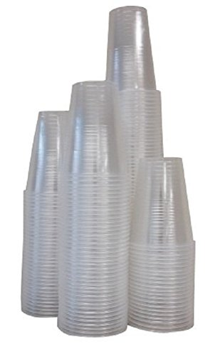 Crystalware, 9 oz. Plastic Disposable Cups, Flexible and Crack Resistant, 240 count Bargain Pack (3 Packs of 80 each) (9 Each Pack Ounce)
