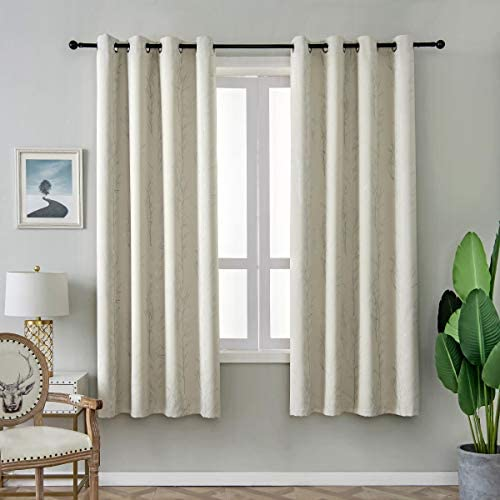 Best window curtain panel: ALLBRIGHT Pigment Printing Blackout Curtains Grommets