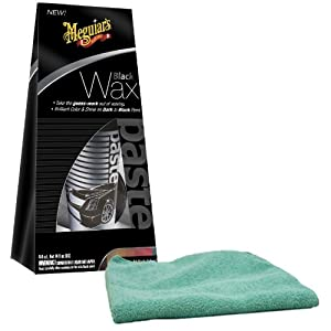 Meguiars Black Paste Wax (8 oz.) Bundle With Microfiber Cloth (2 Items)