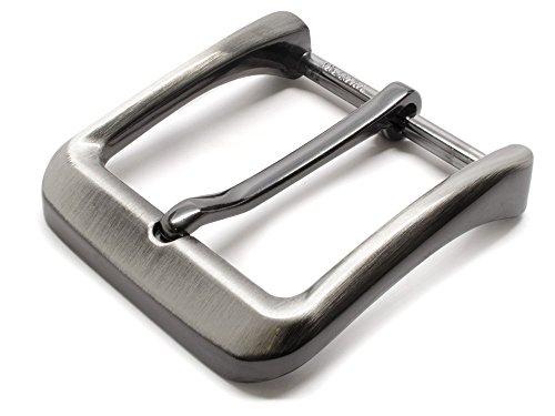 Gunmetal Gray Casual Buckle - Nickel Smart - 1½ Inch Nickel Free Zinc Belt Buckle with Brushed Gray Finish