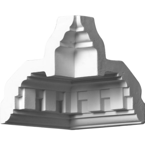 Ekena Millwork MIC04X04DE  4 1/2-Inch P x 4 1/2-Inch H Inside Corner for Molding (Installing Crown Molding Inside Corner)