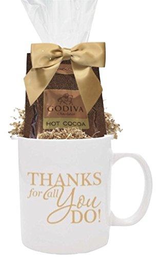 Godiva Gift Mug/Godiva Thank You Cocoa Gift Mug/Holiday Godiva Gift Mug/Corporate Thank You Gifts/Holiday Gift Mug/Business Mugs/Godiva Gift Mugs (Godiva Corporate)