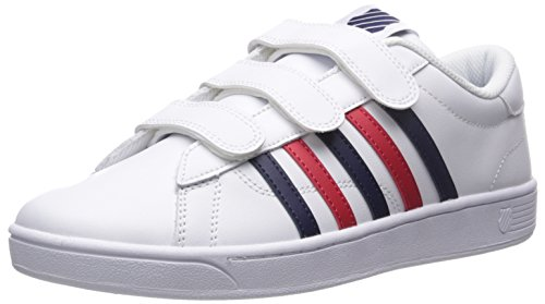K-swiss Mens Hoke 3-strap Cmf Fashion Sneaker Wit / Navy / Rood