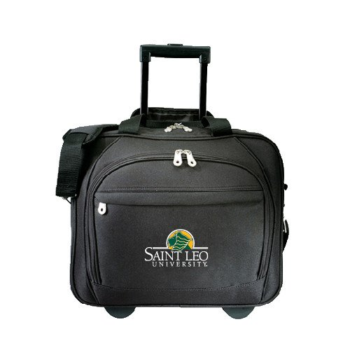 Saint Leo Embassy Plus Rolling Black Compu Brief 'Saint Leo University - Institutional Mark' by CollegeFanGear