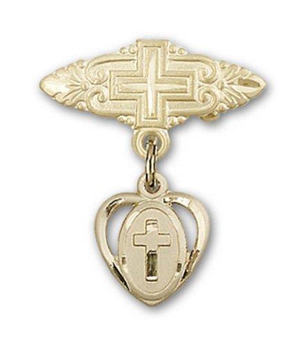 Icecarats Or Bijoux De Créateurs Rempli Broche De Badge Charme Croix Avec Croix 7/8 X 3/4