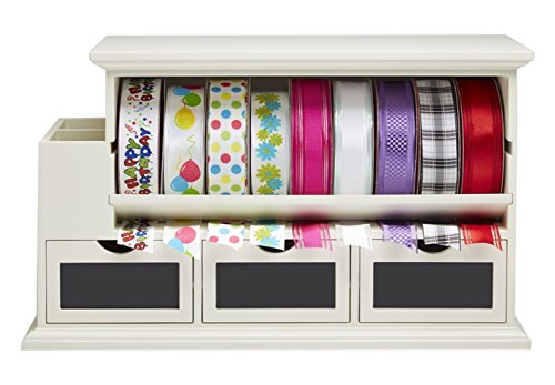 MessageStor 801-OR-RBN-CTR Craft Supplies Table Top Storage Ribbon Organizer (Ribbon Organizer Dispenser compare prices)