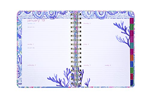 Lilly Pulitzer 17 Month Large Agenda, Personal Planner, 2018-2019 (Mermaid Cove) by Lilly Pulitzer (Image #6)'