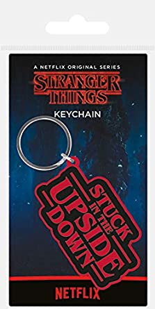 Stranger Things Rubber Keychain Stuck in The Upside Down 6 cm Pyramid