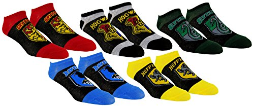 Harry Potter Womens Ankle-No Show Socks 5 Pair Pack (Multi-logo) (Harry Potter Shop)