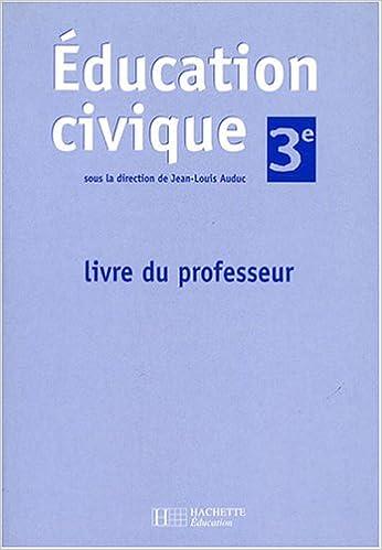 Lire un Education civique 3e : Livre du professeur pdf