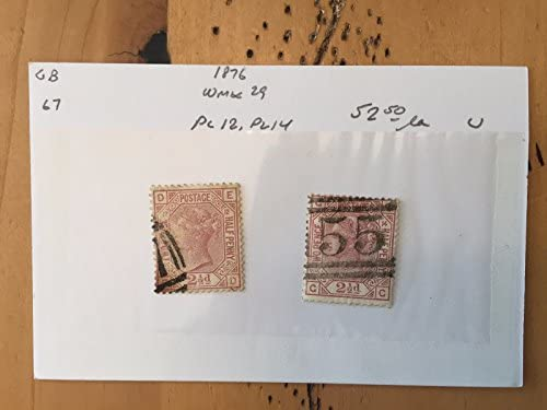 Amazon com : G39 Great Britain Stamps Two Pence Half Penny 1876 Old