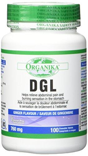 Organika Dgl (Deglycyrrhizinated Licorice) -100 Tablets by Organika