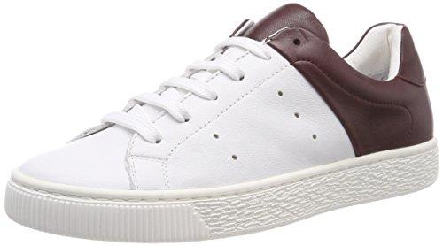 Burgundy 410 Duo para Rojo Zapatillas Mujer Sneaker Bianco 4wYgq