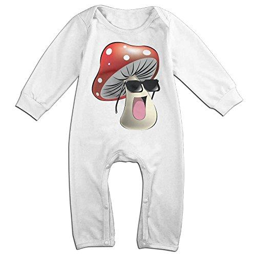 Babysusu Cool Mushroom Toddler Romper Jumpsuit Playsuit Outfits White 18 Months