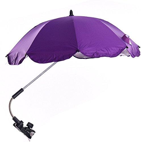 Katech Detachable Stroller UV Protection Umbrella Adjustable Baby Pram Pushchair Sun Shade Parasol with Universal Clamp by Katech (Image #1)