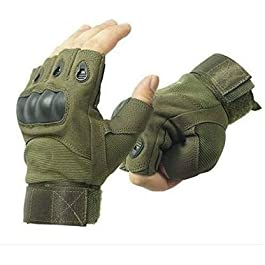 RadadiyaTRD Half Finger Gloves for Sports, Hard Knuckle,Hiking,Cyclling,Travelling,Camping,Outdoor,Boxing, Motorcycle…
