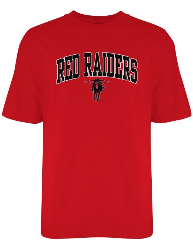 (Old Varsity NCAA Texas Tech Red Raiders Gildan T-Shirt, Large, Red)