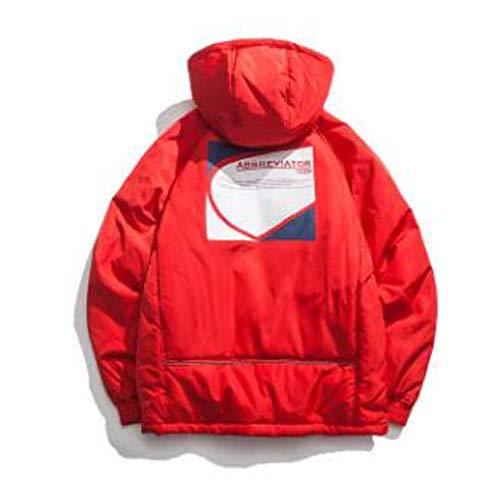 Capuche Tendance Red Avec Manteau En red Hommes De Épaisse Coton Pour m Imprimé Vrac D'hiver Adong Mode CvY4wq4