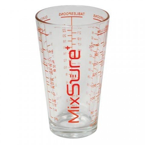MixSure Pint Measuring Glass (Oz Pint Glass 16 Cup)