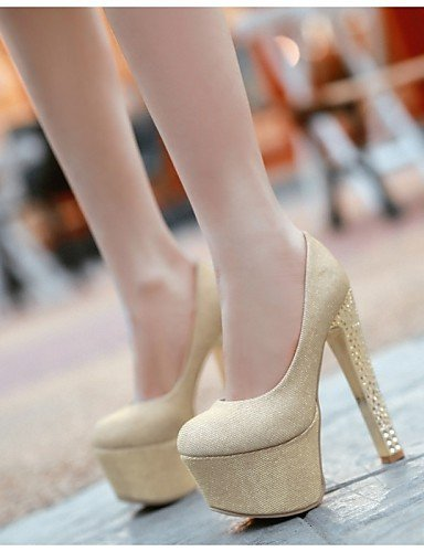 ShangYi Damenschuhe - High Heels - Hochzeit / Party & Festivität - Kunstleder - Blockabsatz - Absätze / Rundeschuh - Blau / Lila / Beige Purple