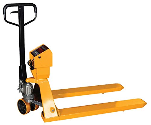 PEC Pallet Truck/Pallet Jack Scale with Built-in Indicator, 5000lbs Capacity for Heavy-Duty Industrial Warehouse Loading and Weighing