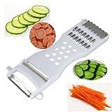 MiniEsting(TM) 5in1 Cucumber Carrot Potato Slicer Peeler Grater Fruit Vegetable Cutter@@