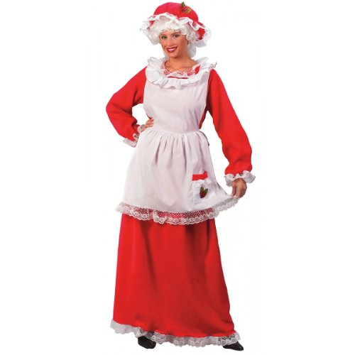 Mrs. Santa Claus 3-Piece Adult Christmas Costume - One Size Fits Most (2-14)