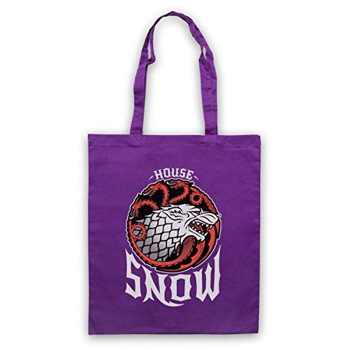 Game Of Thrones House Snow Bolso Morado
