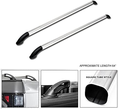 QMI BC2703-Bed Rail Caps Compatible with Ford F-Series Short Bed Truck Mirror Polished Stainless Steel Set of 2
