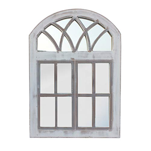 The Urban Port Wooden Frame Window Wall Panel with Mirror