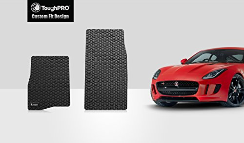 ToughPRO Jaguar F-Type Floor Mats Set - All Weather - Heavy Duty - Black Rubber- 2 Pcs - 2014-2018 by ToughPRO