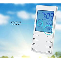 Homerygardens Digital Alarm Clock with snooze Light / Thermo Hygrometer