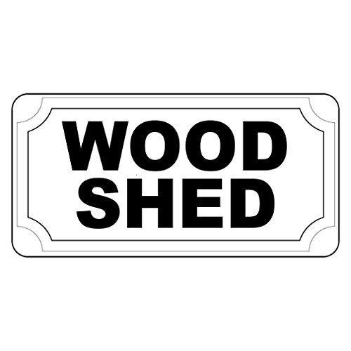 WenNuNa Señal metálica de aluminio para cobertizo de madera, color negro, señal de aluminio, 20 x 30 cm con agujeros: Amazon.es: Bricolaje y herramientas