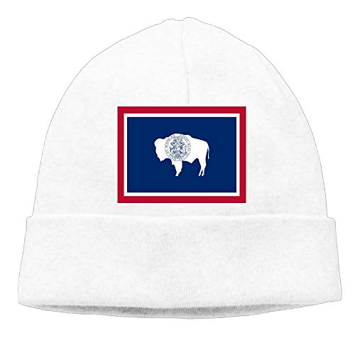 CHAN03 Wyoming State Flag Beanies Hats Unisex Winter Sports Caps