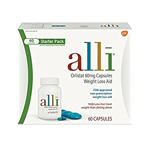 alli Orlistat 60 milligram, Only FDA Approved Over-The-Counter Weight Loss Aid to Supplement your Diet