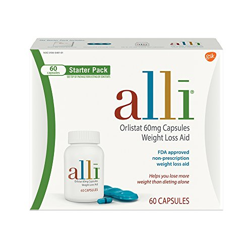alli Orlistat 60 milligram, Only FDA Approved Over-The-Counter Weight Loss Aid to Supplement your Diet 41dvflOyUML